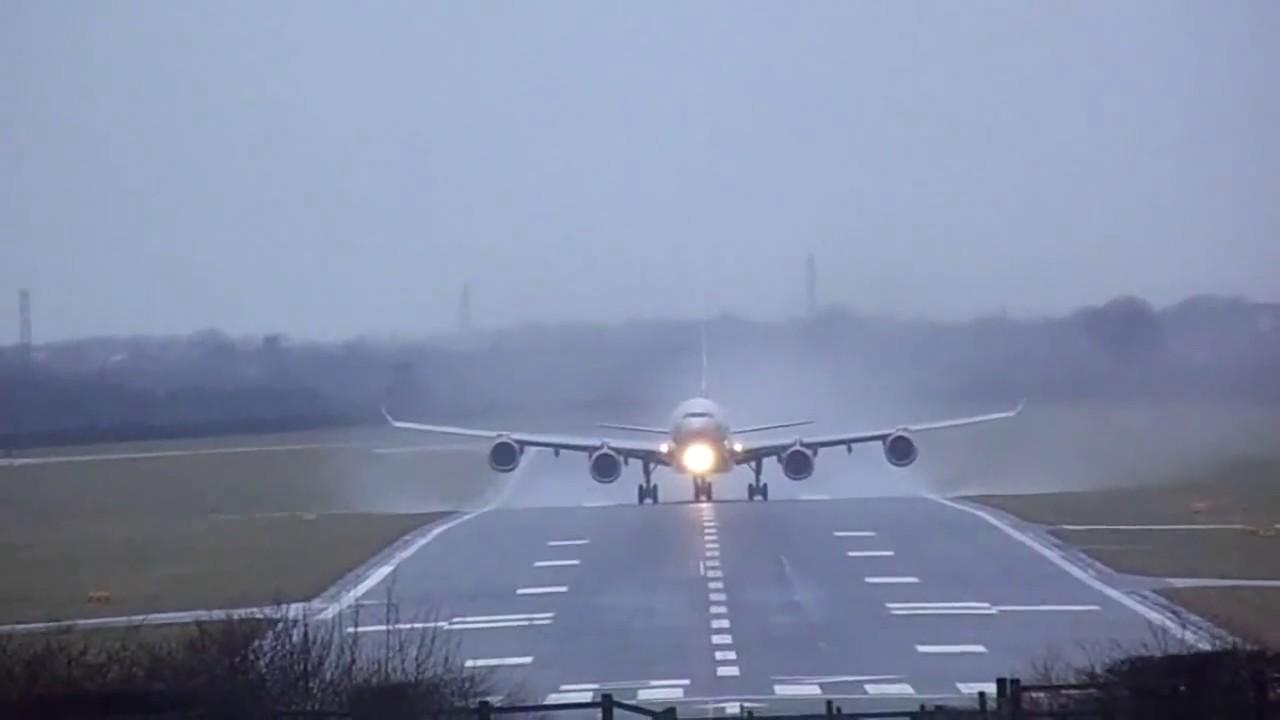 Virgin Atlantic A340 600 G Vfit Departing Newcastle