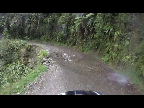 Cross Bike Descent of Bolivia's Death Road