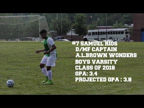 A.L. Brown Wonders Boys Varsity Soccer Captain  SAM RIOS 8112017
