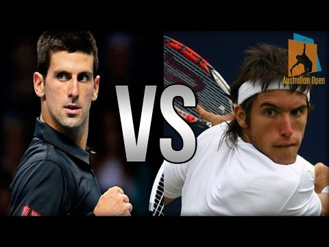 Novak Djokovic Vs Leonardo Mayer Australian Open 2014 Highlights