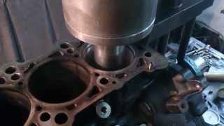 Расточка v-образного блока цилиндров двигателя с Audi