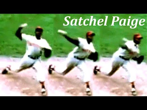 "Satchel Paige ""sidethrow"" Pitching Mechanics Slow Motion"