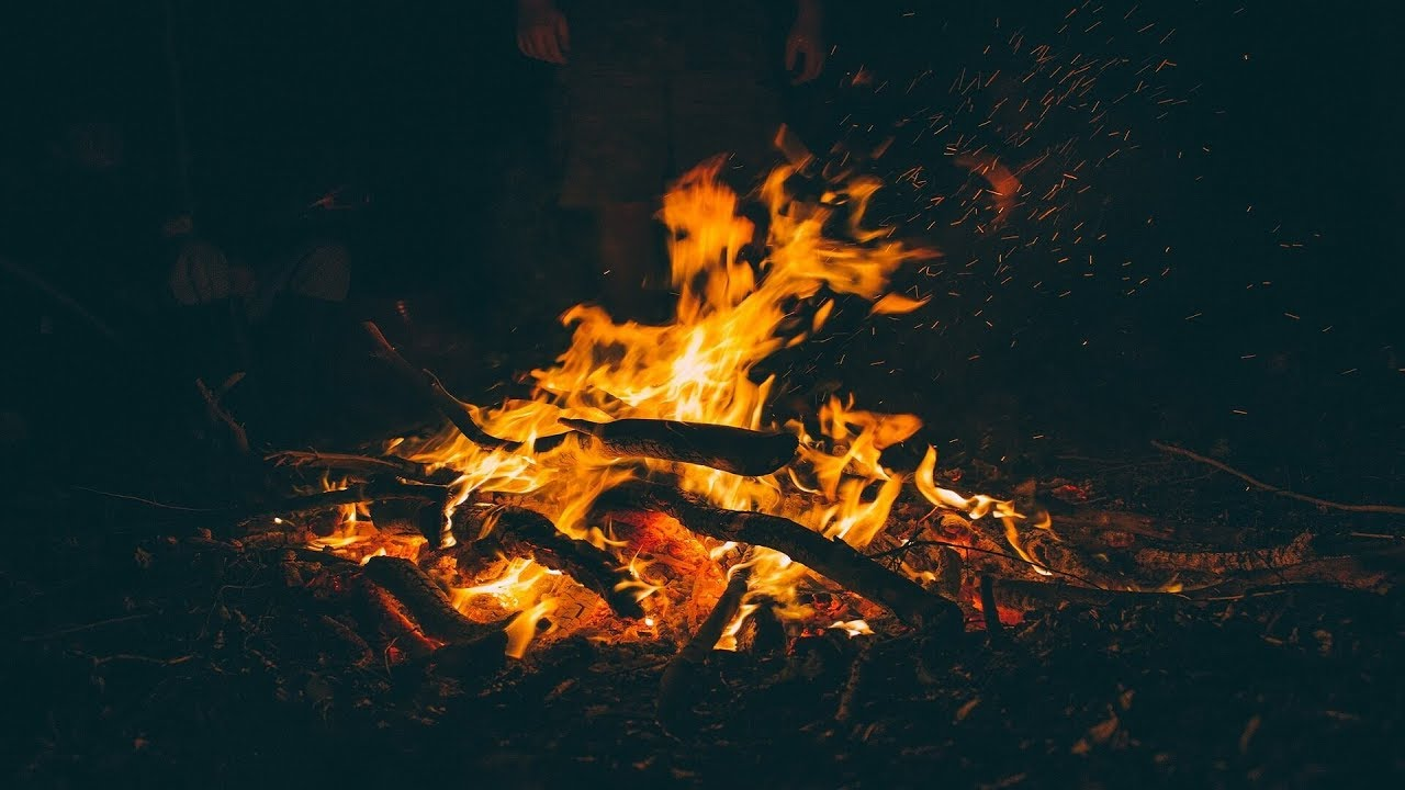 """【リアル環境音BGM】夜の焚き火(Nature Music for Working """"Bonfire in the Night"""")"""
