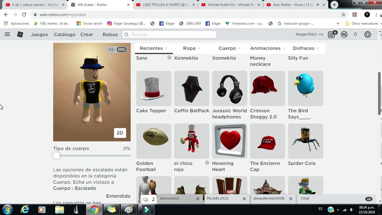 Avatar Roblox Crear Avatar Avatar Y Crear Avatar Gratis Como Tener Un Avatar Cool Sin Robux Chicos Roblox Youtube Roblox Pin Codes For Robux Not Used
