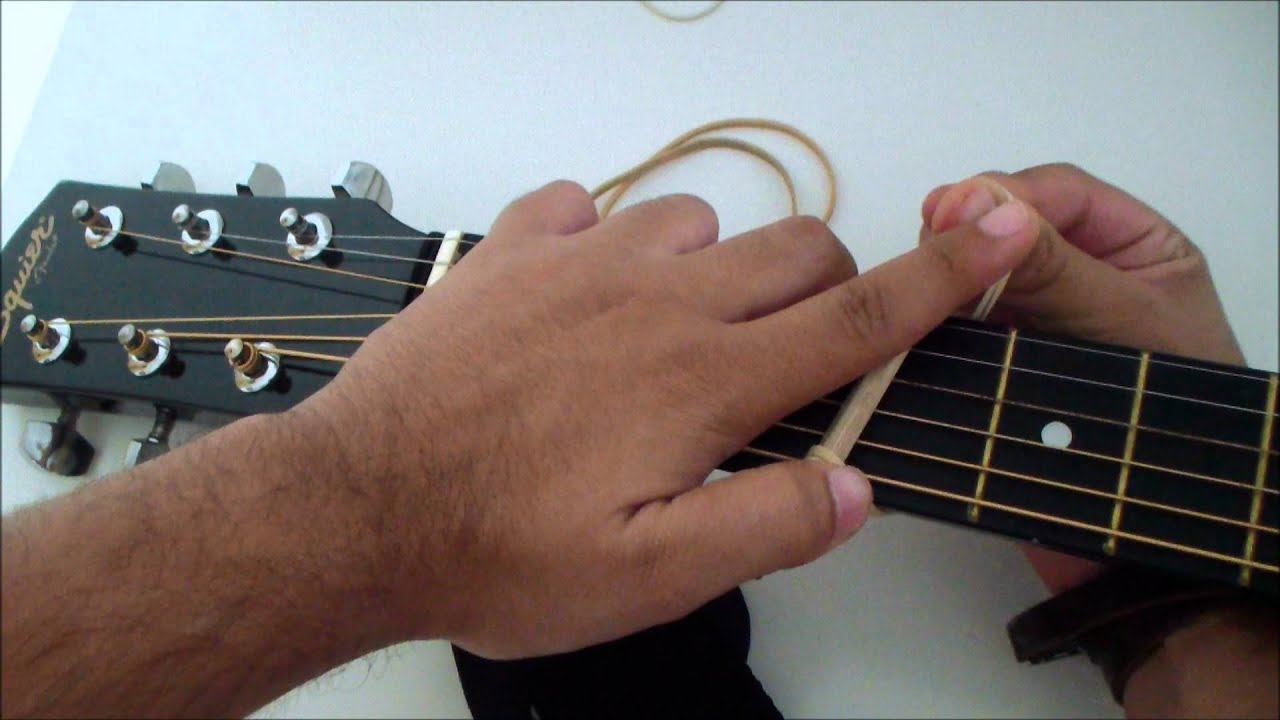 How To Build A Guitar Capo Homemade Very Easy Youtube