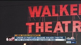 IMPD opens investigation into weekend party at Madame Walker Theatre
