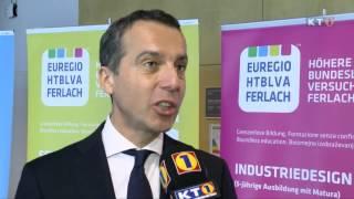 Bundeskanzler Christian Kern zu Besuch an der EUREGIO HTBLVA Ferlach