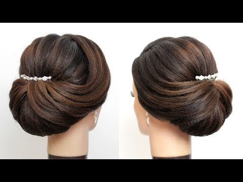 New Bridal Hairstyle For Girls Latest Wedding Updo Hair Tutorial