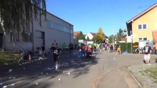 Bottwartal Marathon am 19.10.2014 Streckenabschnitt in Beilstein