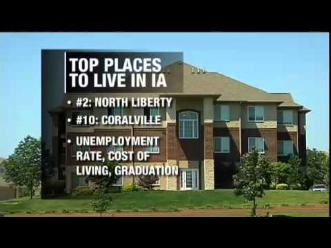 Top 10 places to live in iowa youtube for Top 10 best cities to live in