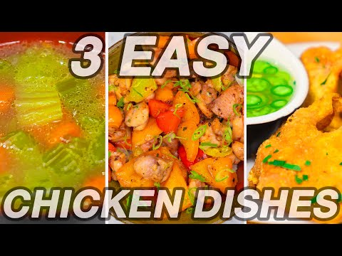 3 Dishes From 1 Ingredient- (Easy Chicken Recipes)