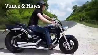 Suzuki M800 / M50 stock pipes VS Vance and Hines Twin Slash Staggered