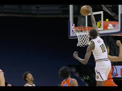 Bol Bol Throws Down Incredible One-Handed Coast-To-Coast Dunk