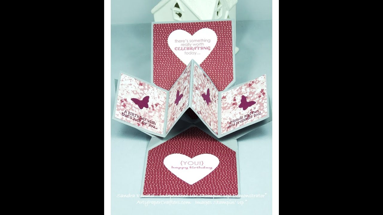 twisting hearts pop up card template - pop up panel card tutorial sandrar uk stampin 39 up