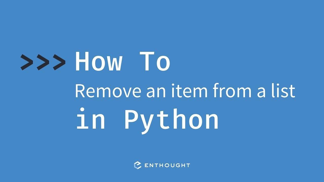 How to remove an item from a list in Python