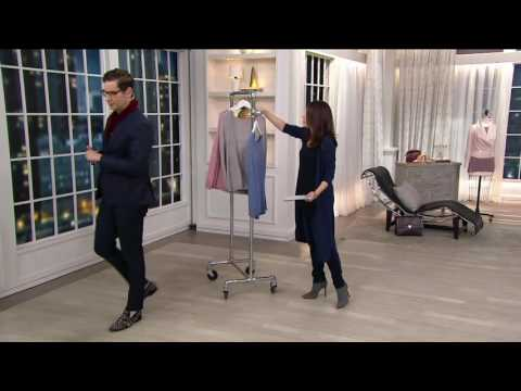 H by Halston Silk-Cashmere Blend Pullover Sweater Cape on QVC