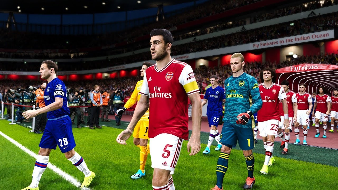 Arsenal vs Chelsea @ Emirates Stadium   PES 2020 - YouTube