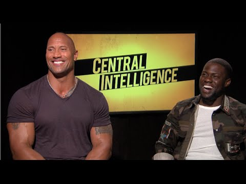 CENTRAL INTELLIGENCE interview - Dwayne THE ROCK Johnson, Kevin Hart