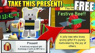 HOW TO GET FREE FESTIVE BEES IN BEE SWARM SIMULATOR UPDATE! (Roblox) *SUPER OP*