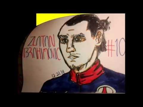 Drawing Zlatan Ibrahimovic from PSG (Sketching & Coloring)