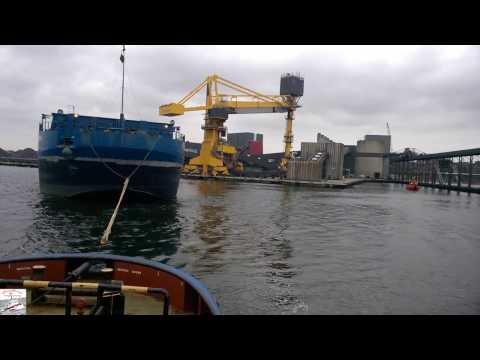 """Морская буксировка баржи """"Karbon"""". Sea towage of barge """" Karbon""""."""