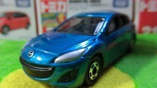 トミカ No.62 マツダ アクセラスポーツ 開封動画 Tomika No.62 Mazda 3 Unboxing