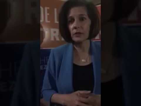 Catherine Cortez Masto speaks on the final night of early voting in Nevada