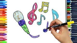 Karaoke nasıl çizilir? | Çocuklar için eğlenceli boyama | Boya Boya | Çizelim Boyayalım