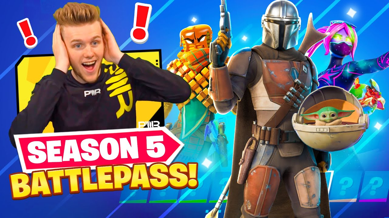 Fortnite Season 5 Battlepass Baby Yoda More Youtube Fortnite season 5 throws a bunch of new stuff at battle royale players, dropping random objects around the map, changing up some landscapes, and introducing a brand new vehicle: fortnite season 5 battlepass baby yoda more