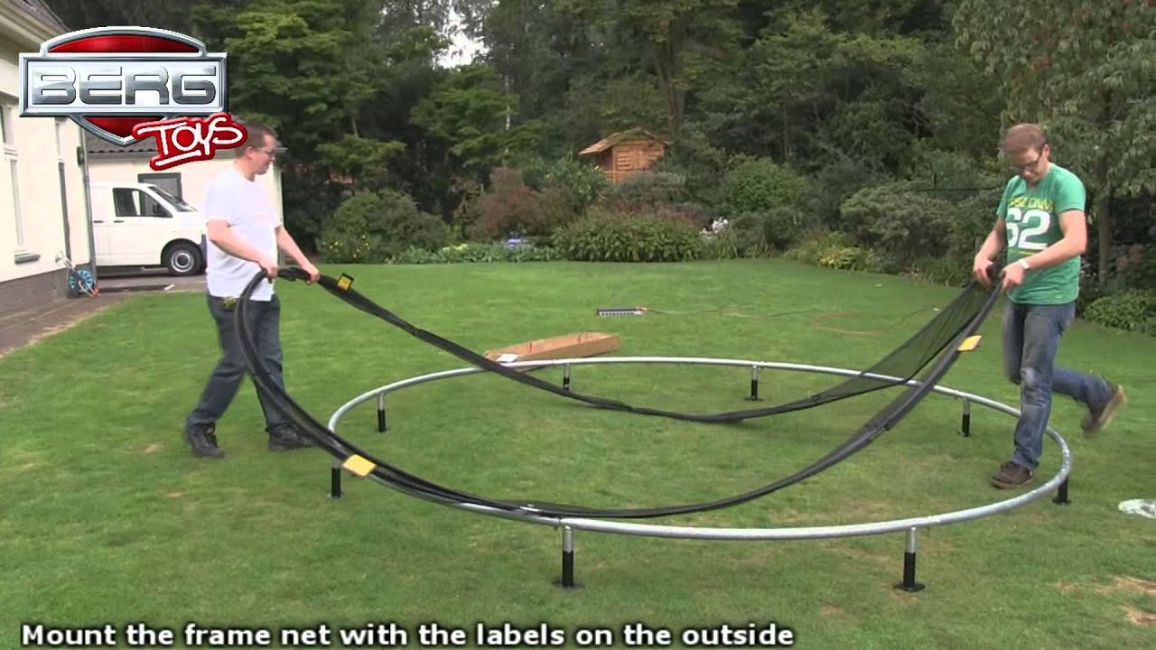 berg inground trampolin aufbauanleitung beotrend gelsenkirchen youtube. Black Bedroom Furniture Sets. Home Design Ideas