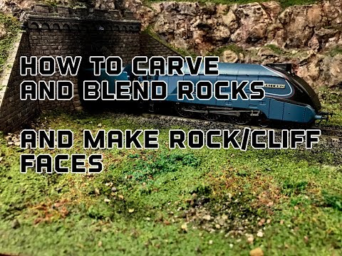 Building A Model Railway Part 1 : Rock Carving Cliff faces Ad Working With foam Quick