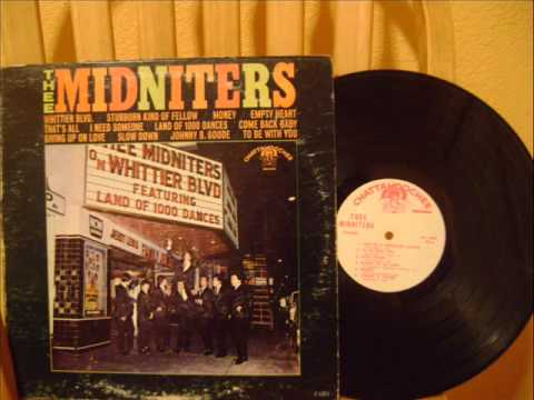 THEE MIDNITERS WHITTIER BLVD rare album.