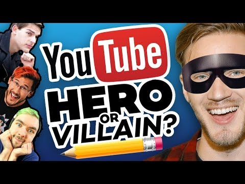 Thumbnail: Drawing YOUTUBERS as HEROES and VILLAINS!