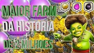 MAIOR FARM DA HISTÓRIA - RECORDE MUNDIAL? + DE 2 MILHÕES CLASH OF CLANS