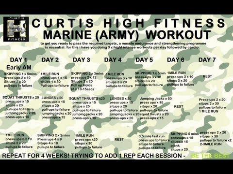 FREE! Marine / Army Workout programme to pass fitness tests