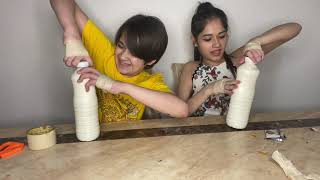 No thumb challenge with my sister Ayaan Zubair Rahmani Jannat Zubair Rahmani