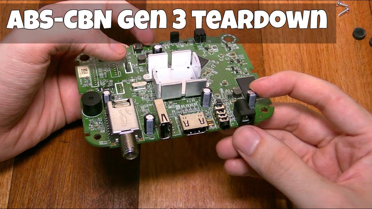 teardown of gen3 tv plus from abs cbn youtube