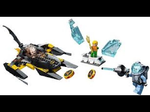building lego set 76000 arctic batman vs mr freeze, aqua man on ice ...