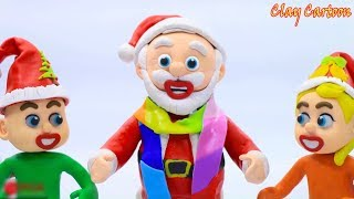 Santa Claus Give Gifts To Children 💖 Clay Cartoon 💖 Stop Motion For Kids