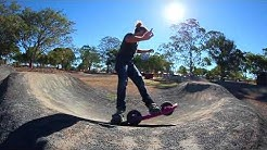 2 Wheel All Terrain Board on gravel, grass, sand, water and concrete!