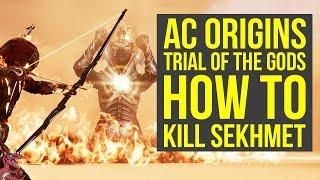 Assassin's Creed Origins Trial of Sekhmet HOW TO DEFEAT SEKHMET (AC Origins Trial of Sekhmet)