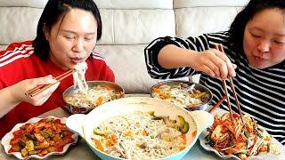 집에서 밥해먹는 일상먹방 브이로그 (배추겉절이,오이무침…