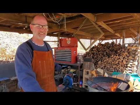 Wood Fired Forge Setup