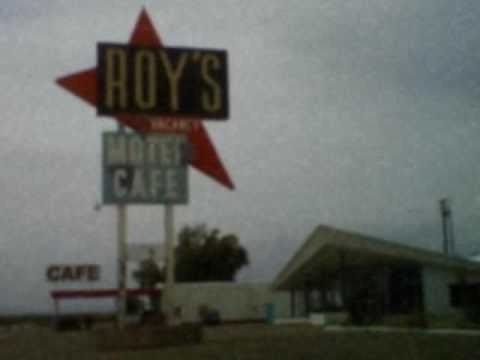 Googie Architecture at Roy's Cafe along Route 66 in the Mojave Desert