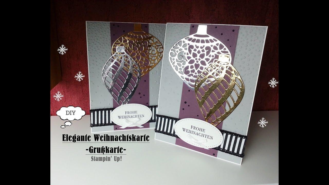 Elegante Weihnachtskarte | Grußkarte | Frohe Weihnachten | Stampin ...