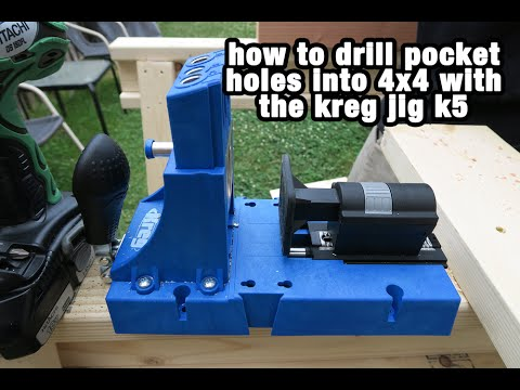 How To Drill a Pocket Hole into a 4x4 With the Kreg Jig K5