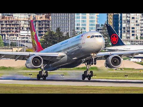 (4K) Fantastic Evening Heavy Arrivals + Snowbirds Tribute | Plane Spotting At Vancouver YVR