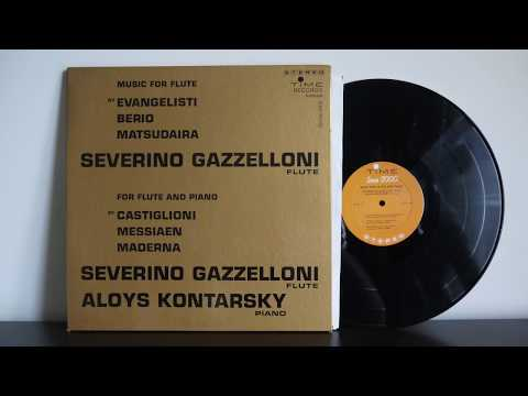 Severino Gazzelloni, Aloys Kontarsky – Music For Solo Flute, Music For Flute And Piano 1962 S/8008