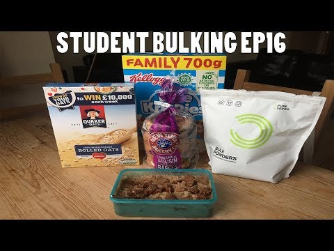 Student Bulking EP16 - Full Day Of Eating On A University Student Budget