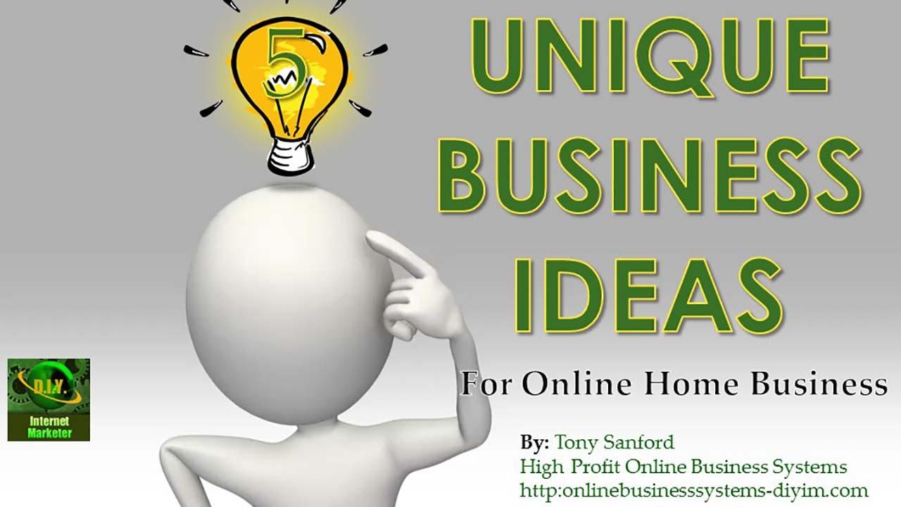 Unique Business Ideas Youtube